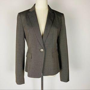 Ann Taylor Brown Plaid Blazer Size 4